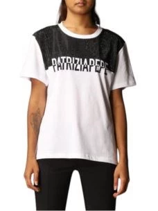 T-shirt con strass e logo   8M1105A7J9