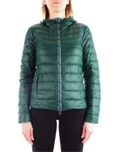 PATRIZIA PEPE Piumino verde ultra-light in nylon 8S0246A503-1