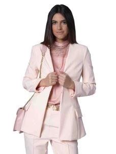 silvian heach blazer rosa scollo profondo CVP19075GC