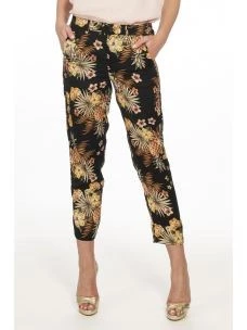 LIU JO Pantalone con stampa floreale all over FA0420T4031