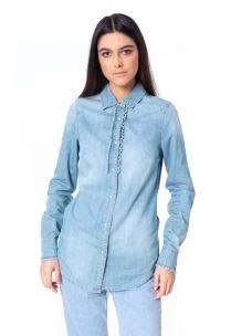 silvian heach camicia jeans PGP19640CA
