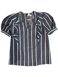 Camicia con ricamo righe   UA1085D4601