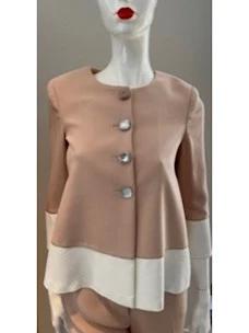Babel jacket sleeve three quarters jewel buttons Cristina Effe