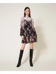 GEORGETTE FLOWER TWINSET DRESS