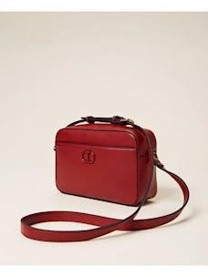 Shoulder bag with Twinset pocket