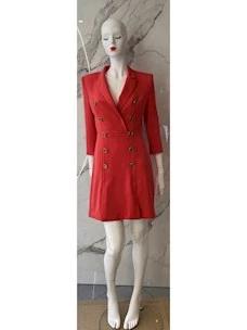 Jacket dress with golden buttons Elisabetta Franchi