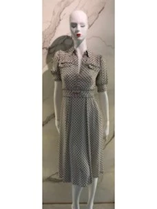 DRESS IN GEORGETTE PRINT CLAMP LITTLE ELISABETTA FRANCHI