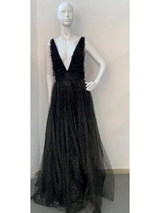 Long dress in tulle and paiettes elisabetta franchi