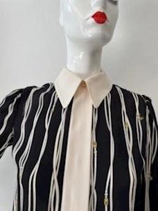Contrasting belt-logo print shirt Elisabetta Franchi