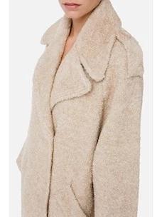 Bouclè coat with maxi lapels Elisabetta Franchi