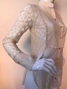 Lace shirt with rebel queen plastron