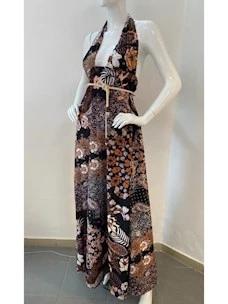 F**K Patterned Long Dress