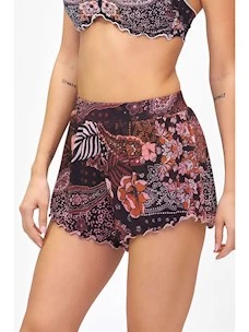 Lurex fatasia F**k fabric shorts