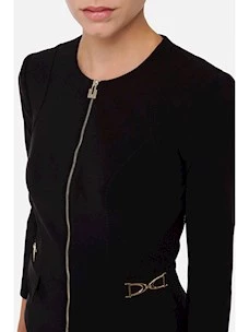 Tight-fitting jacket with metal clamps Elisabetta Franchi