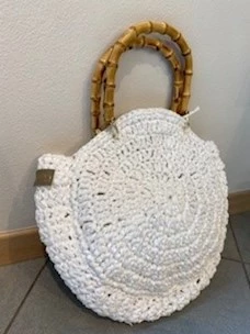 Chica bamboo handle polypropylene bag