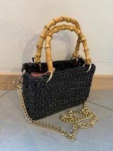 Bag pontova crochet handles bamboo Chica