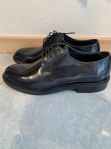 Menoronzoni abrasive leather derby shoe