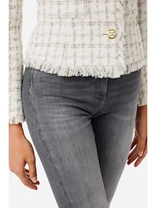 Jeans with detail golden clamp Elisabetta Franchi