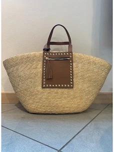 Raffia Ash shoulder bag