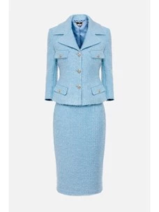Tweed suit with jacket and skirt Elisabetta Franchi