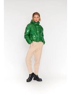 Montereggi vinyl effect fabric bomber jacket