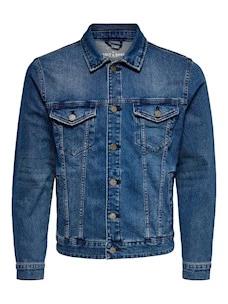 Giubbotto Only&Sons 22010451 in Jeans Cotone e Elastene
