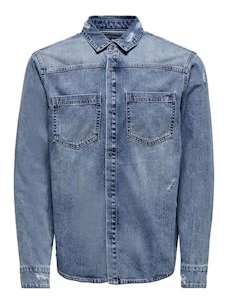 Giacca Only&Sons 22019151 in Jeans Cotone