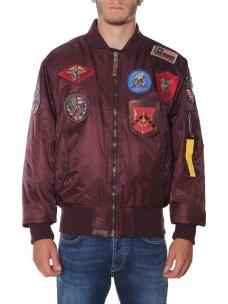 Giubbotto Top Gun Bomber in Nylon Patch 51668