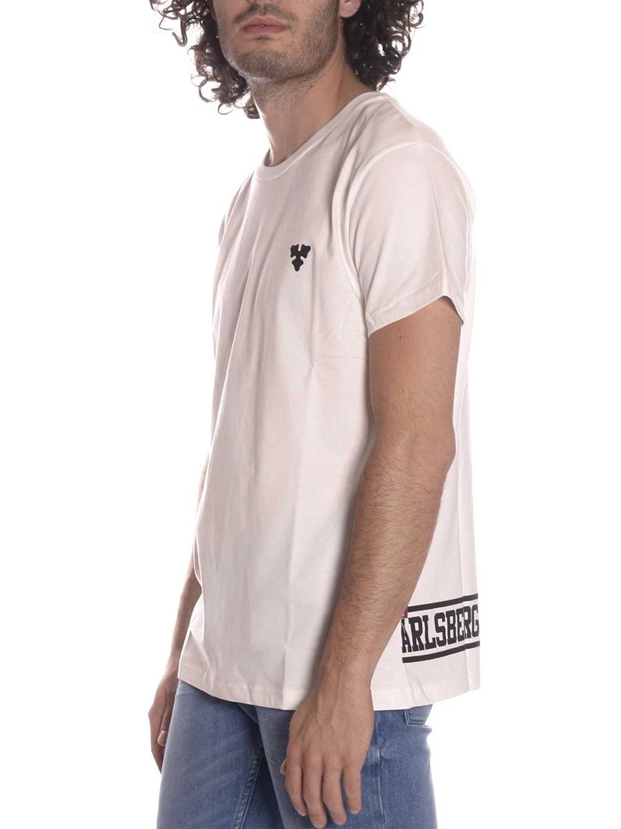 T-Shirt Mezza Manica Carlsberg Uomo Cbu1822 Made in Italy