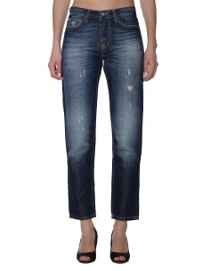 Jeans Roy Roger's Ines Donna Cotone e Lino Made in Italy