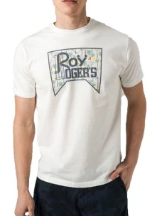 T-Shirt Roy Rogers Aloha 100% Cotone Made in Italy