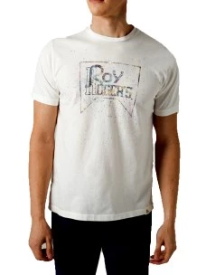T-Shirt Roy Rogers Roy Hand Painted 100% Cotone Made in Italy
