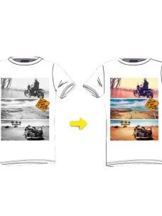 T-Shirt Whale's Bay Uomo ROAD Cambia Colore esposta al Sole