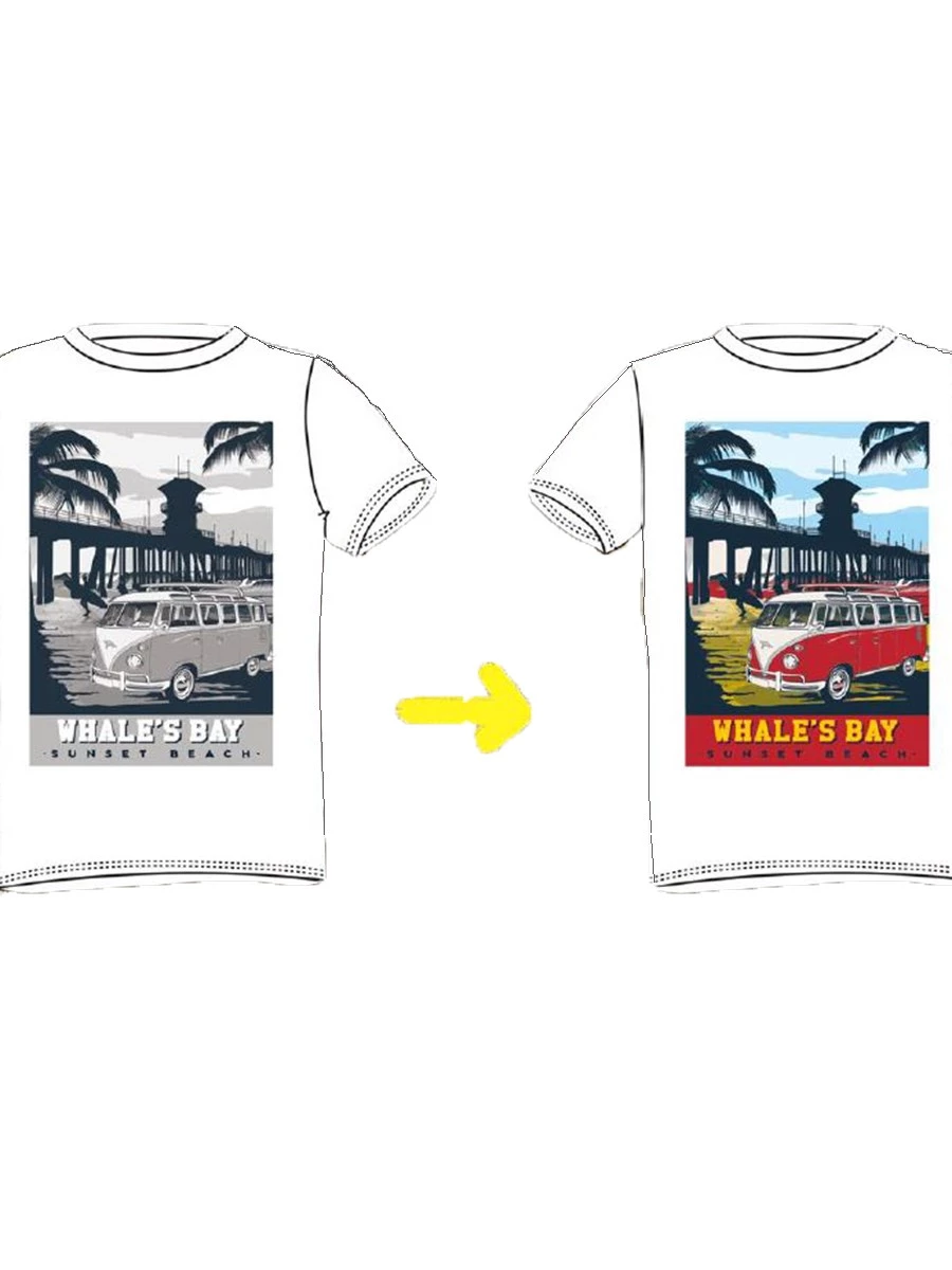 T-Shirt Whale's Bay TRANSPORTER-KID Cambia Colore al Sole