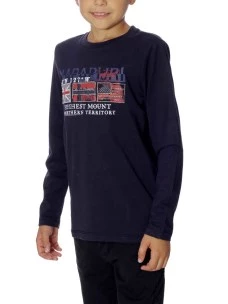 T-Shirt Kid Napapijri Saris N0Y9ZD-4-8 anni