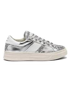 Crime London 25541 sneaker da donna in pelle argento