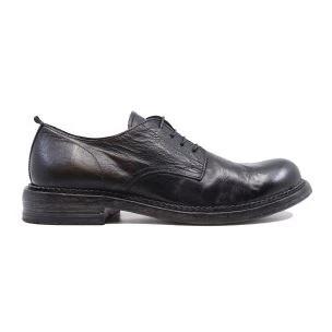 Moma 2AW151-BT Bufalo scarpa allacciata in pelle nera
