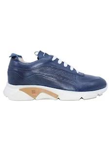 Moma 4AS018-CU Cusna sneaker da uomo in pelle blu