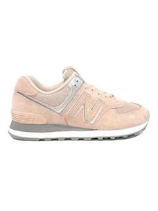 New Balance WL574EQ Sneaker da donna in camoscio rosa