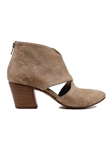Kudetà 012708 women's ankle boot in beige leather open to the si