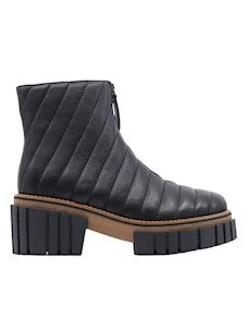 181 Shanghai Women's Ankle Boots in Black Leather