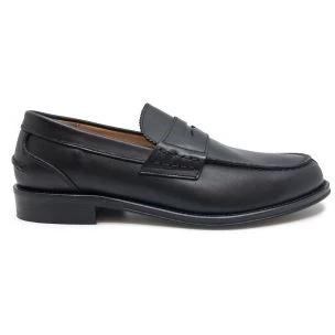 Antica Cuoieria 20279 black leather men's loath