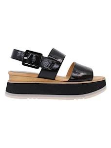 Paloma Barcelo Javari 2078 black leather women's sandal