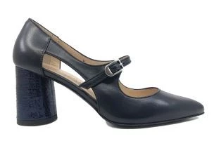 FLAVIANO ERCOLI 219 BLUE LEATHER COURT SHOES WOMAN