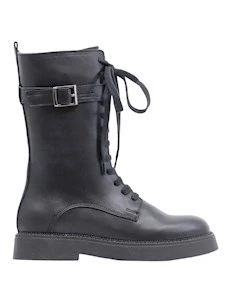 OT Shoes 29001 Women's amphibian in black leather