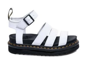 Dr. MARTENS BLAIRE HYDRO WOMEN'S SANDAL IN WHITE LEATHER