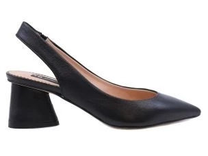 TOSCA BLUE CAYMAN SS2045S889 SLINGBACK WOMAN IN BLACK LEATHER