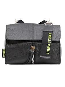 Rebelle Chloe Mini Black Leather Women's Bag