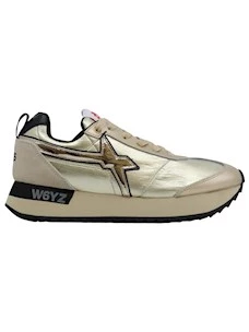 W6YZ Wizz Kis-W women's sneaker in platinum leather