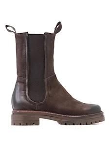 Mjus M83205 women's ankle boot in brown nubuck